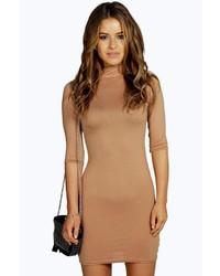 Vestido ajustado marron claro original 1382541