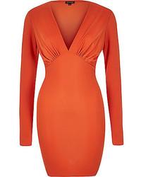 Vestido ajustado naranja