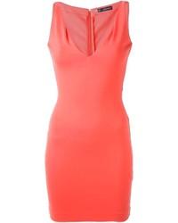 Vestido ajustado naranja de Dsquared2