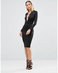 Vestido Ajustado Negro de AX Paris