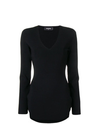 Vestido ajustado negro de Dsquared2