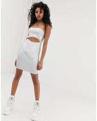 Vestido ajustado plateado de New Girl Order