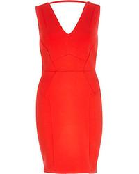 Vestido ajustado rojo