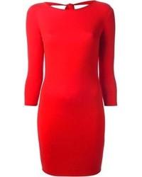 Vestido ajustado rojo de Alexander McQueen