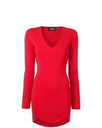 Vestido ajustado rojo de Dsquared2