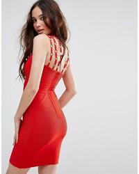 Vestido ajustado rojo de Missguided