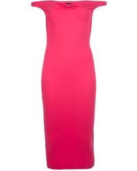 Vestido ajustado rosa de Dsquared2