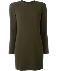 Vestido ajustado verde oliva de Dsquared2