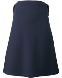 Vestido amplio azul marino de Balenciaga