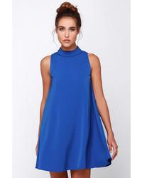 Vestido amplio azul
