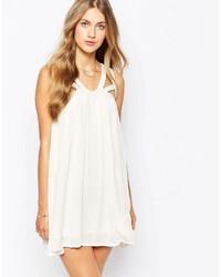Vestido amplio blanco de Mango