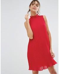 Vestido amplio de gasa rojo