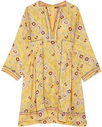 Vestido amplio estampado amarillo de Isabel Marant