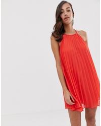 Vestido amplio rojo de ASOS DESIGN