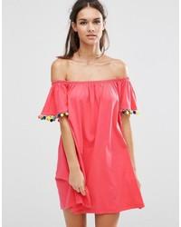 Vestido amplio rosa de Asos