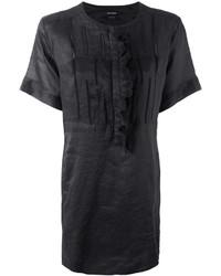 Vestido bordado en gris oscuro de Isabel Marant
