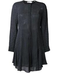 Vestido camisa a lunares negra