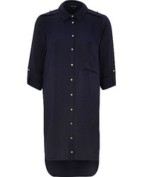 Vestido camisa azul marino