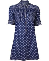Vestido camisa azul marino de Etoile Isabel Marant