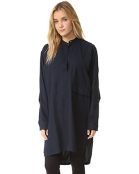 Vestido camisa azul marino de Helmut Lang