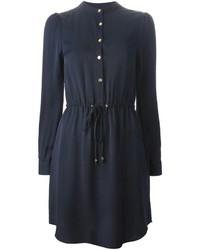 Vestido camisa azul marino de MICHAEL Michael Kors