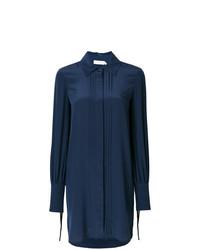 Vestido camisa azul marino de Tory Burch