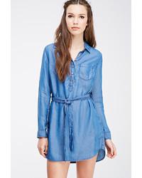 Vestido camisa azul