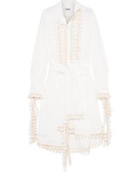 Vestido camisa blanca de Loewe