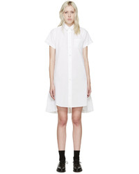 Vestido camisa blanca de Sacai