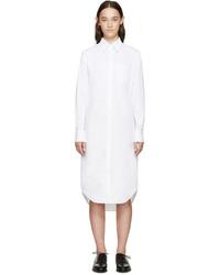 Vestido camisa blanca de Thom Browne