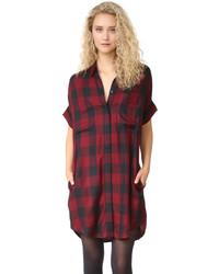Vestido camisa burdeos de Madewell