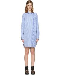 Vestido camisa celeste de MSGM