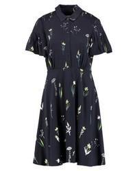 Vestido Camisa con print de flores Azul Marino de Hobbs
