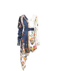 Vestido camisa con print de flores en multicolor de Monse