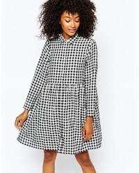 e9615456c4 Comprar una vestido camisa de cuadro vichy en blanco y negro  elegir ...