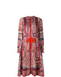 Vestido camisa de paisley en multicolor de Etro
