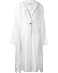 Vestido Camisa de Rayas Verticales Blanca de Dusan