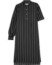 Vestido camisa de rayas verticales negra de Balenciaga