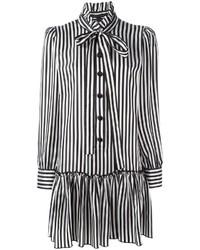 Vestido camisa de rayas verticales negra de Marc Jacobs