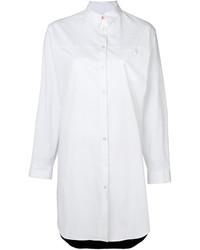 Vestido camisa de seda blanca de Paul Smith