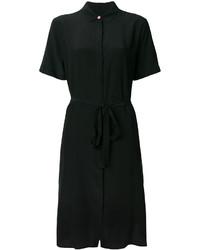 Vestido camisa de seda negra de Paul Smith