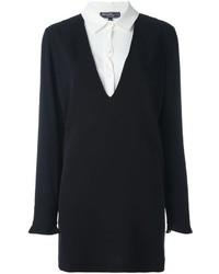 Vestido camisa de seda negra de Salvatore Ferragamo