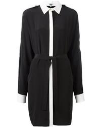 Vestido Camisa en Negro y Blanco de Kenzo