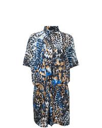 Vestido camisa estampada en multicolor de Barbara Bui