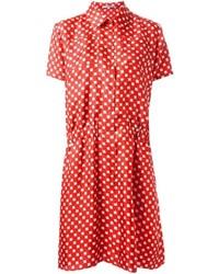 Vestido camisa estampada roja de Carven