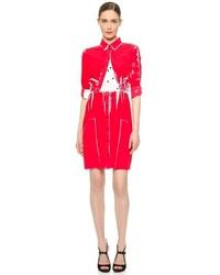 Vestido camisa estampada roja de Victoria Beckham