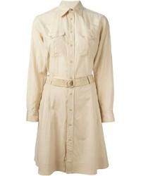 Vestido camisa marrón claro de Ralph Lauren