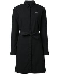 Vestido camisa negra original 10215009