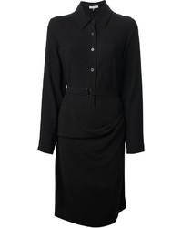 Vestido camisa negra de Ann Demeulemeester