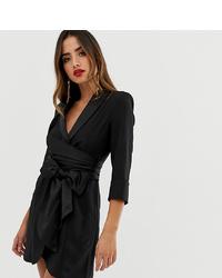 Vestido camisa negra de ASOS DESIGN